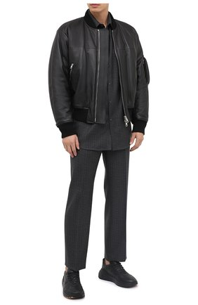 Мужской шерстяные брюки VALENTINO серого цвета, арт. UV0RBE756R8 | Фото 2
