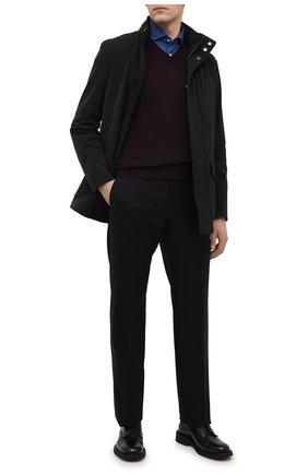Мужской шерстяной пуловер CORNELIANI бордового цвета, арт. 00M501-0025100/00 | Фото 2