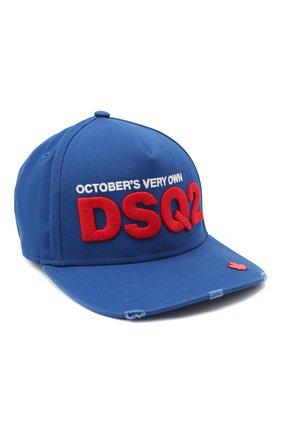 Мужской хлопковая бейсболка d2 x ovo DSQUARED2 синего цвета, арт. BCM0392 05C00001 | Фото 1