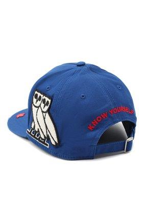 Мужской хлопковая бейсболка d2 x ovo DSQUARED2 синего цвета, арт. BCM0392 05C00001 | Фото 2