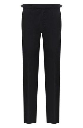 Мужские шерстяные брюки ERMENEGILDO ZEGNA черного цвета, арт. 830F04/75F812 | Фото 1