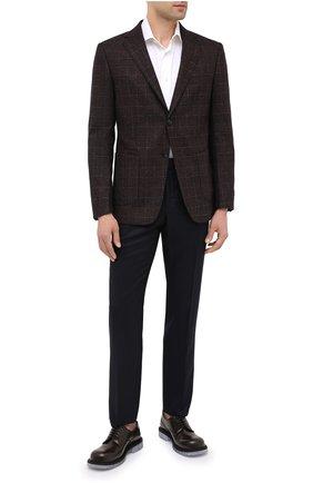 Мужские шерстяные брюки ERMENEGILDO ZEGNA черного цвета, арт. 830F04/75F812 | Фото 2