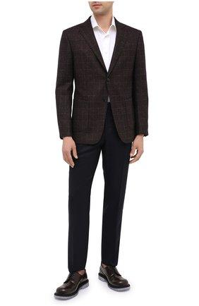 Мужской пиджак из шерсти и шелка Z ZEGNA коричневого цвета, арт. 850752/1VRUG0   Фото 2