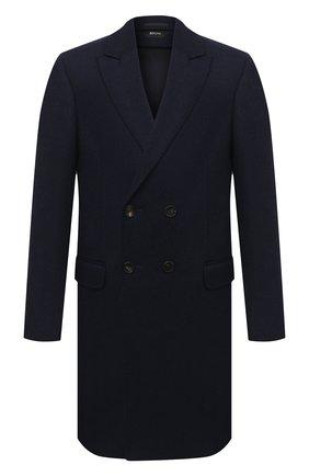 Мужской шерстяное пальто Z ZEGNA темно-синего цвета, арт. 889727/4DG4G0 | Фото 1