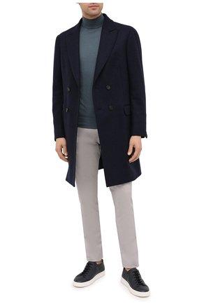 Мужской шерстяное пальто Z ZEGNA темно-синего цвета, арт. 889727/4DG4G0 | Фото 2