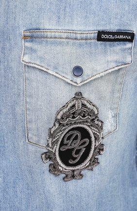 Мужская джинсовая рубашка DOLCE & GABBANA голубого цвета, арт. G5EX7Z/G8CT0 | Фото 5