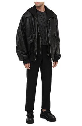Мужские кожаные дерби vltn VALENTINO черного цвета, арт. UY0S0D89/YBH | Фото 2 (Материал внутренний: Натуральная кожа; Стили: Классический)