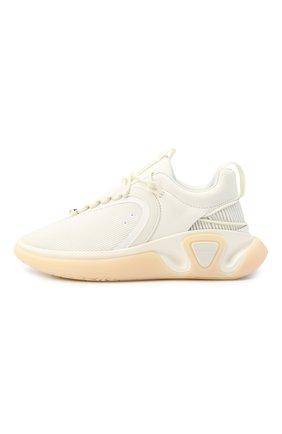 Мужские комбинированные кроссовки b-runner BALMAIN белого цвета, арт. UM0C240/LSMH | Фото 3 (Материал внешний: Текстиль; Материал внутренний: Натуральная кожа, Текстиль; Стили: Гранж; Подошва: Массивная)