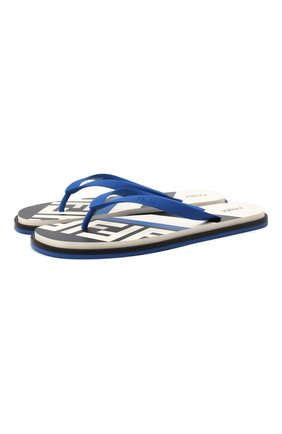 Мужские шлепанцы FENDI синего цвета, арт. 7Y1360 AC7I | Фото 1