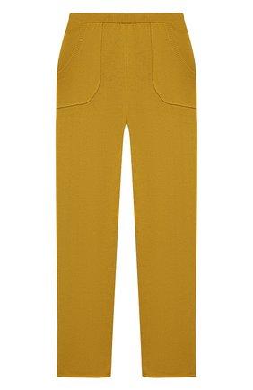 Детские кашемировые брюки OSCAR ET VALENTINE желтого цвета, арт. PAN01L | Фото 1