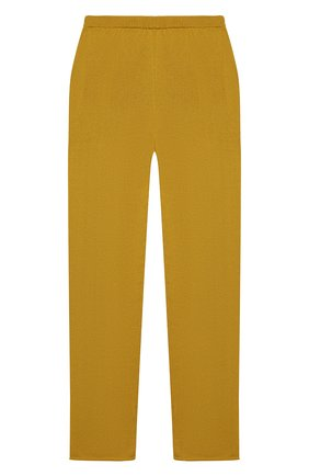 Детские кашемировые брюки OSCAR ET VALENTINE желтого цвета, арт. PAN01L | Фото 2