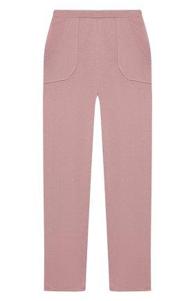 Детские кашемировые брюки OSCAR ET VALENTINE розового цвета, арт. PAN01M | Фото 1