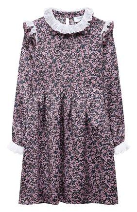 Детское шелковое платье PAADE MODE розового цвета, арт. 20401101/10Y-16Y   Фото 1