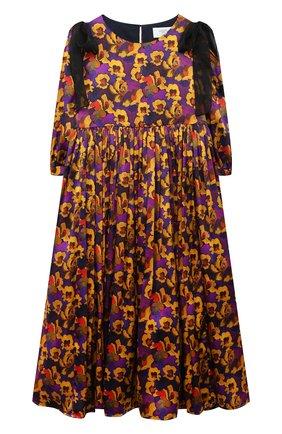Детское шелковое платье PAADE MODE разноцветного цвета, арт. 20410841/10Y-16Y   Фото 1
