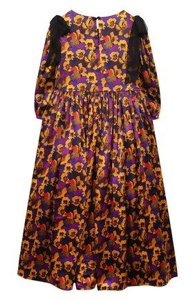Детское шелковое платье PAADE MODE разноцветного цвета, арт. 20410841/10Y-16Y   Фото 2
