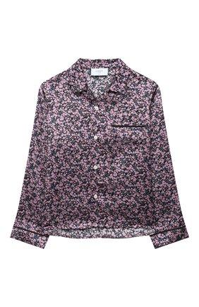 Детское шелковая блузка PAADE MODE розового цвета, арт. 20414603/10Y-16Y | Фото 1 (Материал внешний: Шелк; Рукава: Длинные; Ростовка одежда: 10 - 11 лет | 140 - 146см, 12 лет | 152 см, 13 - 15 лет | 158 см)