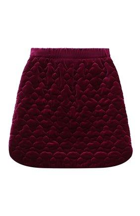 Детская хлопковая юбка PAADE MODE фиолетового цвета, арт. 20416614/10Y-16Y   Фото 2