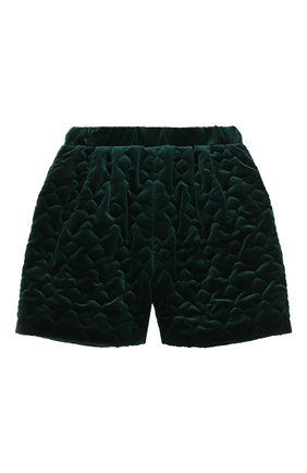 Детские хлопковые шорты PAADE MODE зеленого цвета, арт. 20417601/10Y-16Y   Фото 1