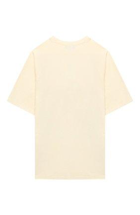 Детская хлопковая футболка GUCCI бежевого цвета, арт. 636574/XJCSX | Фото 2