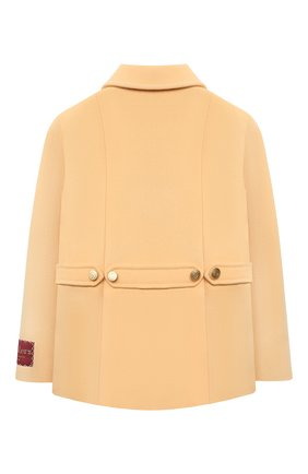Детское шерстяное пальто GUCCI бежевого цвета, арт. 630117/ZB810 | Фото 2