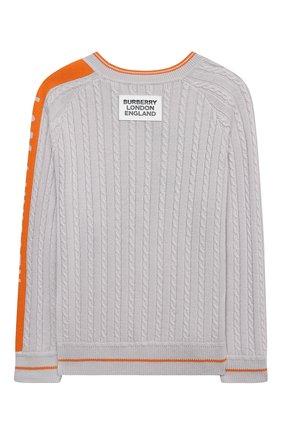 Детский шерстяной пуловер BURBERRY серого цвета, арт. 8027674 | Фото 2