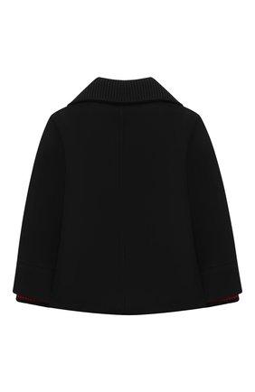 Детское шерстяное пальто BURBERRY черного цвета, арт. 8029418 | Фото 2
