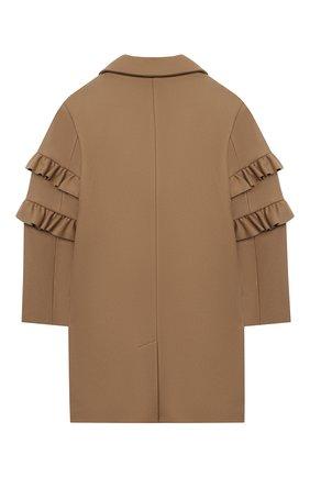 Детское шерстяное пальто BURBERRY бежевого цвета, арт. 8029588   Фото 2
