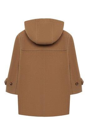 Детское шерстяное пальто BURBERRY бежевого цвета, арт. 8029861 | Фото 2