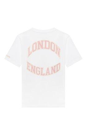 Детская хлопковая футболка BURBERRY белого цвета, арт. 8030637 | Фото 2