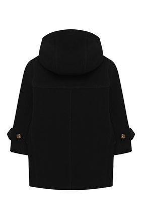 Детское шерстяное пальто BURBERRY черно-белого цвета, арт. 8031593 | Фото 2