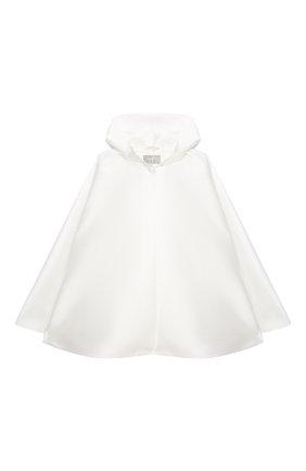 Детское накидка с капюшоном IL GUFO белого цвета, арт. A20GP190N0063/2A-4A | Фото 1