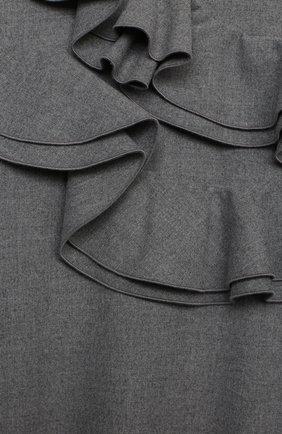 Детское платье IL GUFO серого цвета, арт. A20VL402W0003/10A-12A | Фото 3 (Рукава: Длинные; Случай: Повседневный; Материал внешний: Синтетический материал; Материал подклада: Синтетический материал)