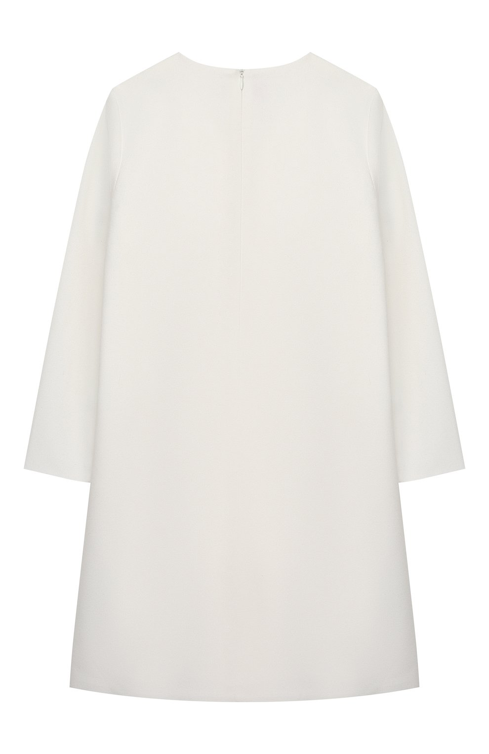 Детское платье IL GUFO белого цвета, арт. A20VL402W0003/10A-12A | Фото 2 (Рукава: Длинные; Случай: Повседневный; Материал внешний: Синтетический материал; Материал подклада: Синтетический материал; Девочки Кросс-КТ: Платье-одежда)