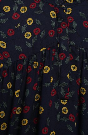 Детское платье IL GUFO темно-синего цвета, арт. A20VL410N4016/10A-12A   Фото 3 (Рукава: Длинные; Случай: Повседневный; Материал внешний: Вискоза; Девочки Кросс-КТ: Платье-одежда)