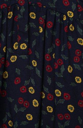 Детское платье IL GUFO темно-синего цвета, арт. A20VL410N4016/2A-4A   Фото 3 (Рукава: Длинные; Случай: Повседневный; Материал внешний: Вискоза; Девочки Кросс-КТ: Платье-одежда)