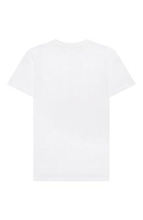 Детская хлопковая футболка MSGM KIDS белого цвета, арт. 025650 | Фото 2