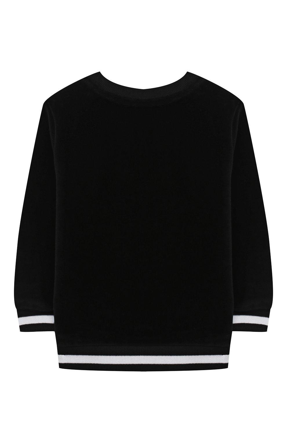 Детский хлопковый свитшот BALMAIN черного цвета, арт. 6N4830/NB430/3-9M   Фото 2