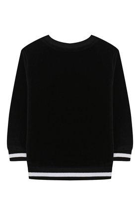 Детский хлопковый свитшот BALMAIN черного цвета, арт. 6N4830/NB430/3-9M | Фото 2