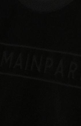 Детский хлопковый свитшот BALMAIN черного цвета, арт. 6N4830/NB430/3-9M   Фото 3