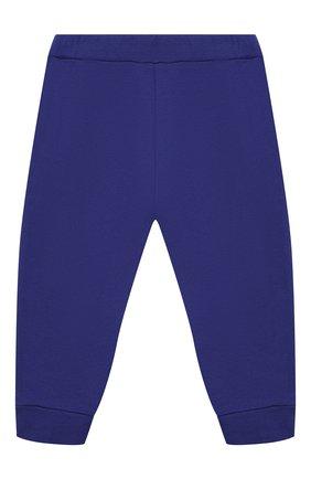 Детские хлопковые джоггеры BALMAIN синего цвета, арт. 6N6870/NX300/3-9M | Фото 2