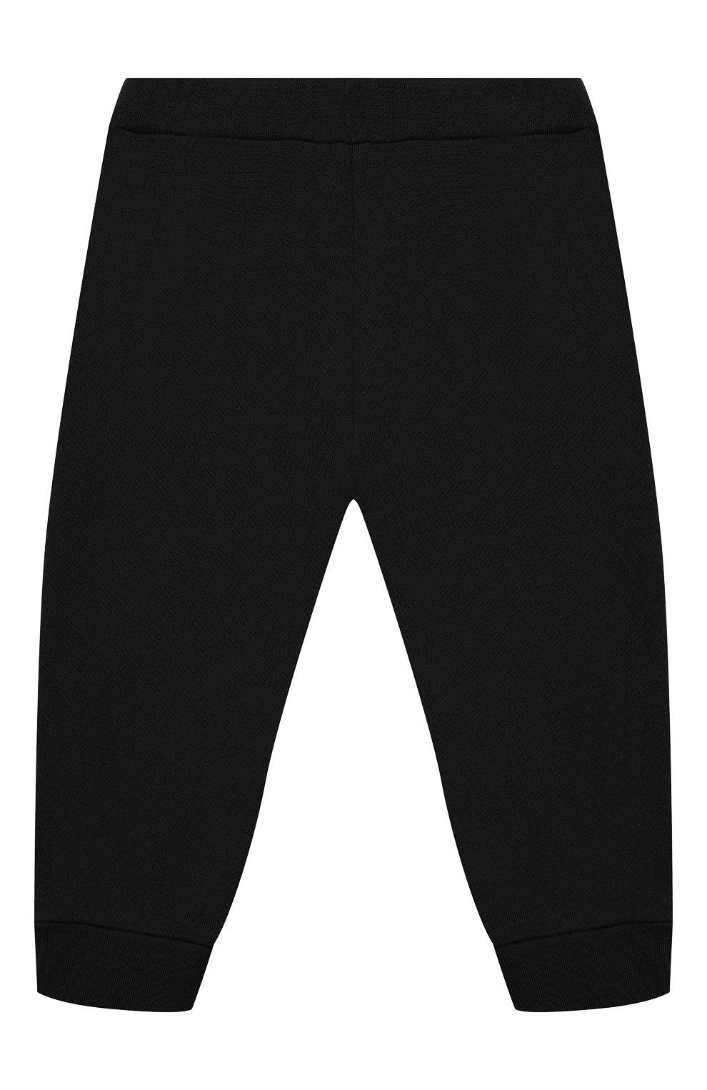 Детские хлопковые джоггеры BALMAIN черного цвета, арт. 6N6870/NX300/3-9M   Фото 2