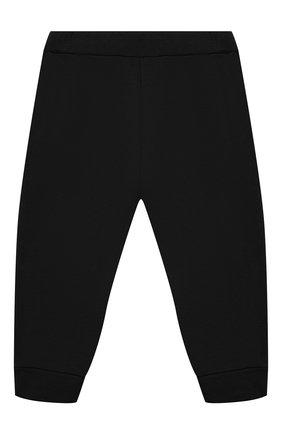 Детские хлопковые джоггеры BALMAIN черного цвета, арт. 6N6870/NX300/3-9M | Фото 2