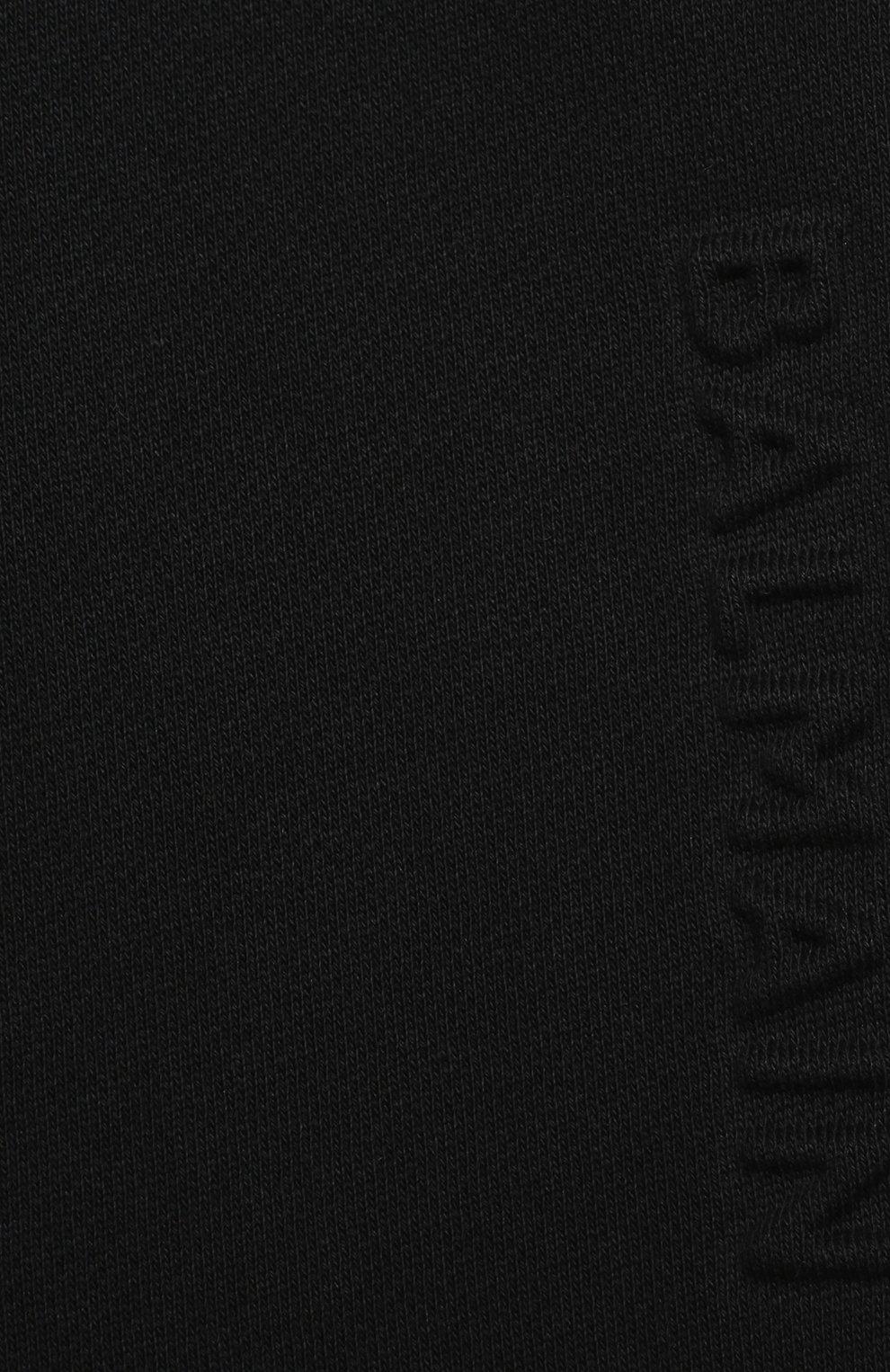 Детские хлопковые джоггеры BALMAIN черного цвета, арт. 6N6870/NX300/3-9M   Фото 3