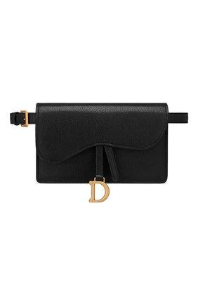 Женская поясная сумка saddle DIOR черного цвета, арт. S5619CCEHM900   Фото 1