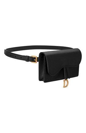 Женская поясная сумка saddle DIOR черного цвета, арт. S5619CCEHM900   Фото 2