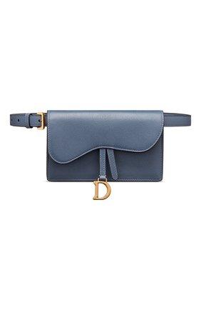 Женская поясная сумка saddle DIOR синего цвета, арт. S5619CCEHM94B   Фото 1
