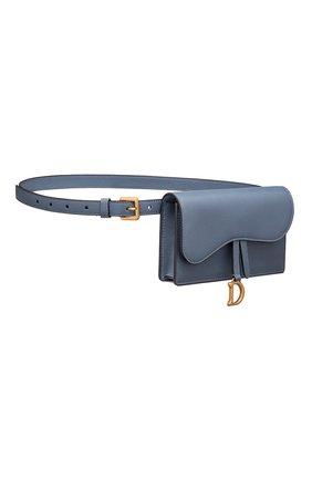 Женская поясная сумка saddle DIOR синего цвета, арт. S5619CCEHM94B   Фото 2