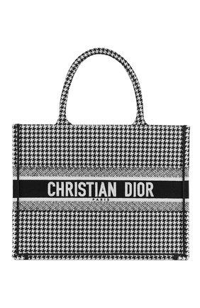 Женский сумка dior book tote DIOR черно-белого цвета, арт. M1296ZRPIM081 | Фото 1