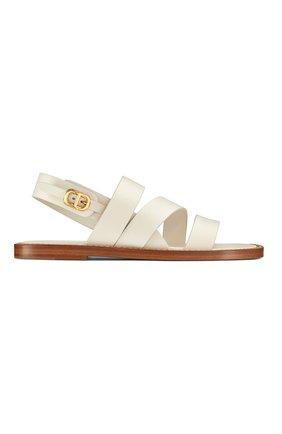 Женские кожаные сандалии dior union DIOR белого цвета, арт. KCQ439VEAS03W | Фото 1
