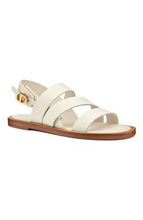 Женские кожаные сандалии dior union DIOR белого цвета, арт. KCQ439VEAS03W | Фото 2